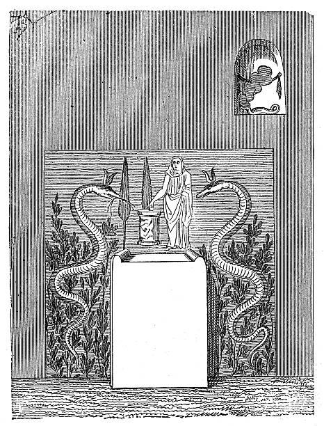 ilustrações de stock, clip art, desenhos animados e ícones de ilustração de roman antigo antiga altar domésticos - seitas