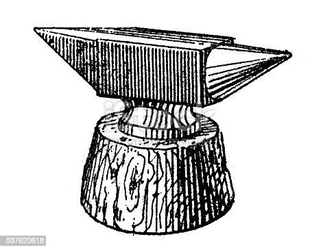 Antique illustration of anvil