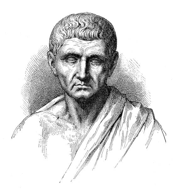 Antique illustration of Aristotele vector art illustration