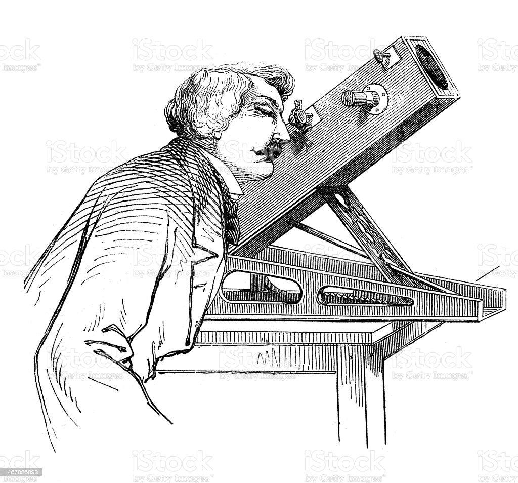 Ancienne illustration de Astronome - Illustration vectorielle