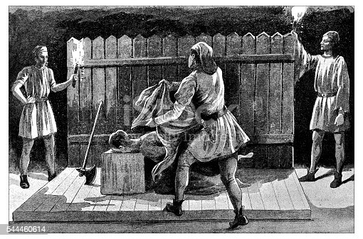 Antique illustration of Decapitation