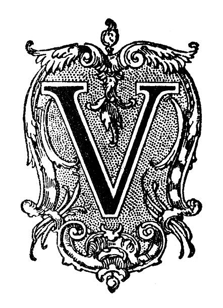 Best Drawing Of The Letter V Designs Illustrations, Royalty