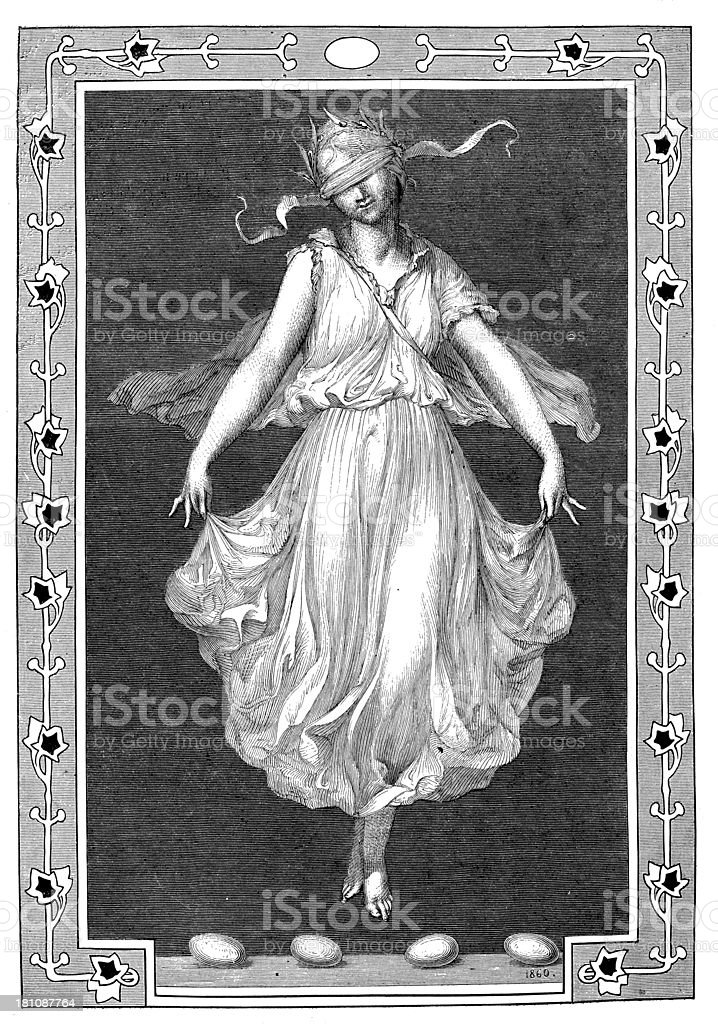 Antique illustration of eggs dance royalty-free stock vector art