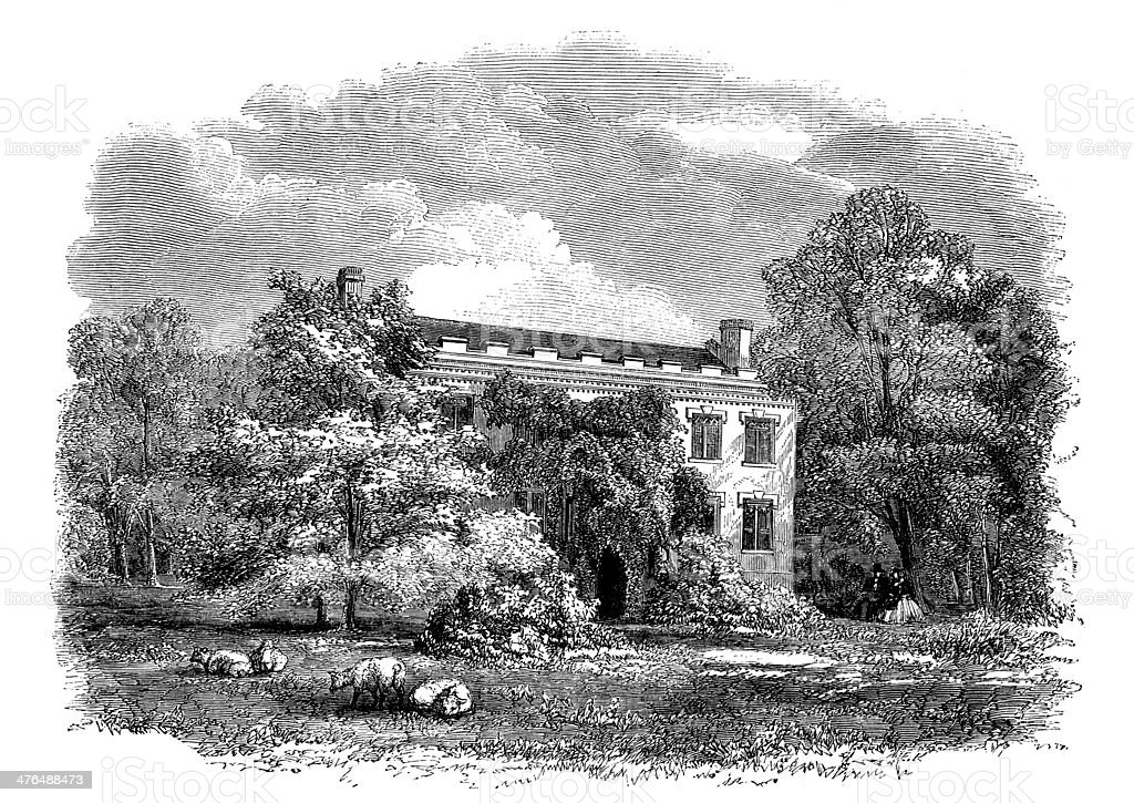 Antique illustration of Fenimore Cooper house in Cooperstown royalty-free antique illustration of fenimore cooper house in cooperstown stock vector art & more images of 19th century style