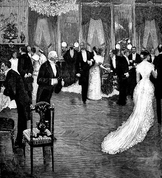 Ancienne illustration de réception officielle - Illustration vectorielle