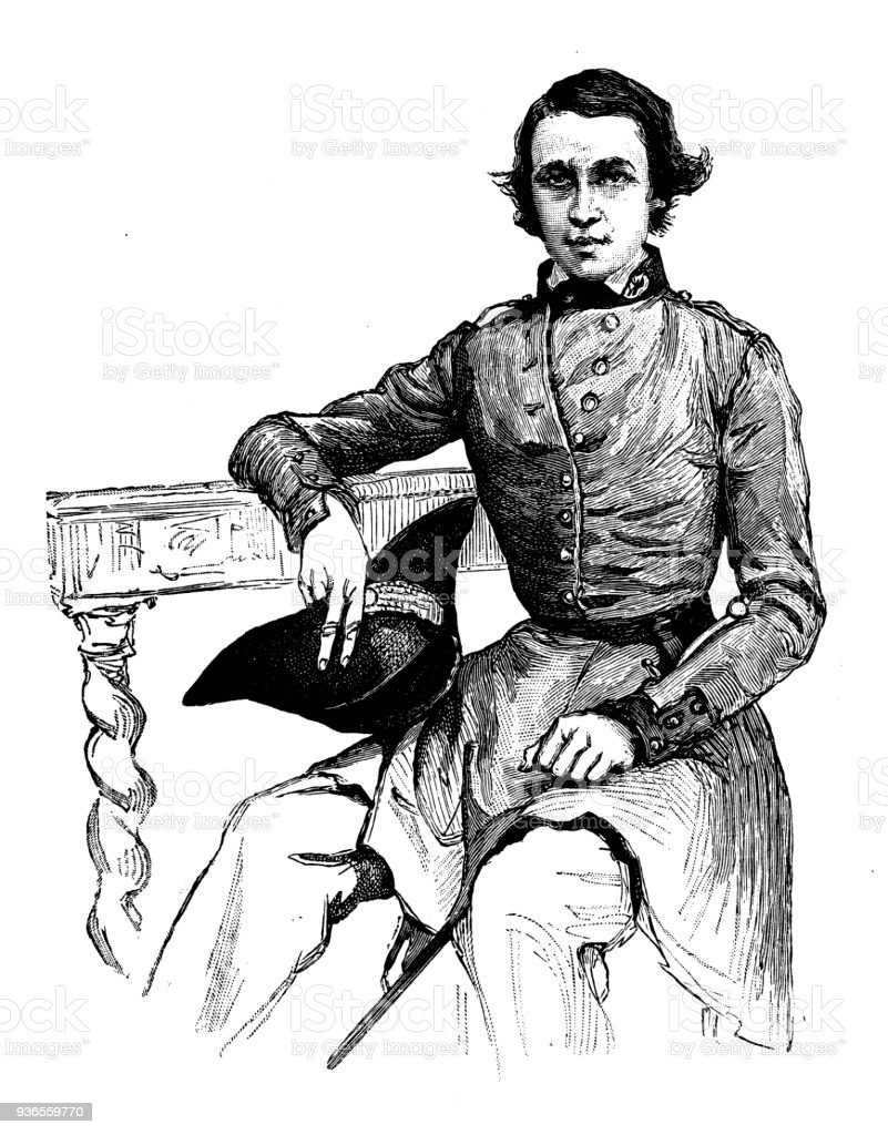 Antique Illustration Of French Civilian And Military Schools