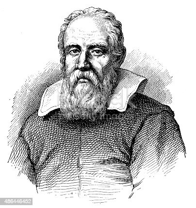 Antique illustration of Galileo