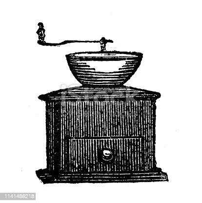 Antique illustration of grinder