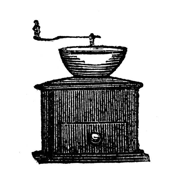 Antique illustration of grinder vector art illustration