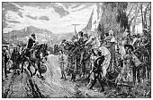 istock Antique illustration of important people of the past: Ferdinand and Isabella of Castile, the surrender of Granada 1208556762
