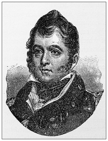 Antique illustration of important people of the past: Oliver Hazard Perry