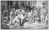 istock Antique illustration of important people of the past: The Ides of March 1208367293