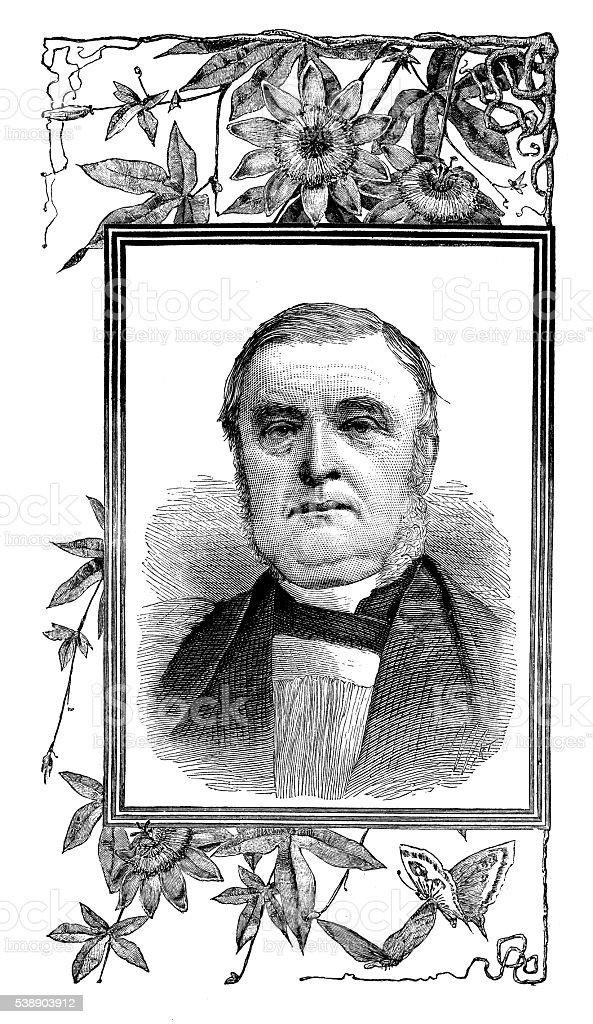 Antique illustration of James Fraser, Bishop vector art illustration