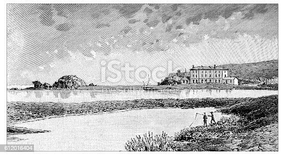 Antique illustration of Laboratoire Arago, Banyuls Sur Mer