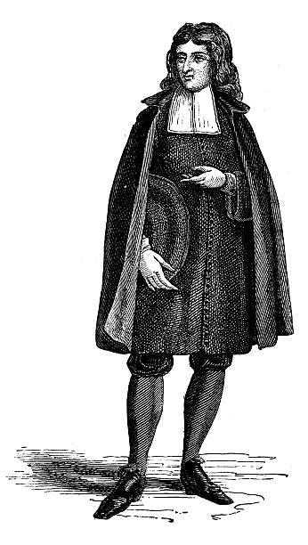 Antique illustration of man dressed for ceremony Antique illustration of man dressed for ceremony friar stock illustrations