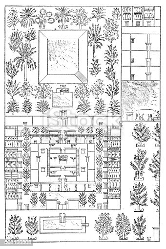 Antique illustration of map of an ancient egyptian house stock antique illustration of map of an ancient egyptian house stock vector art more images of 19th century 508466808 istock ccuart Choice Image