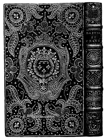 Antique illustration of ornate book binding