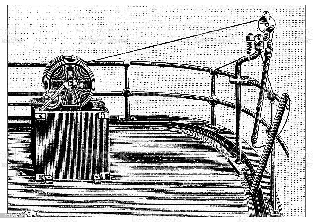 Antique illustration of probe vector art illustration