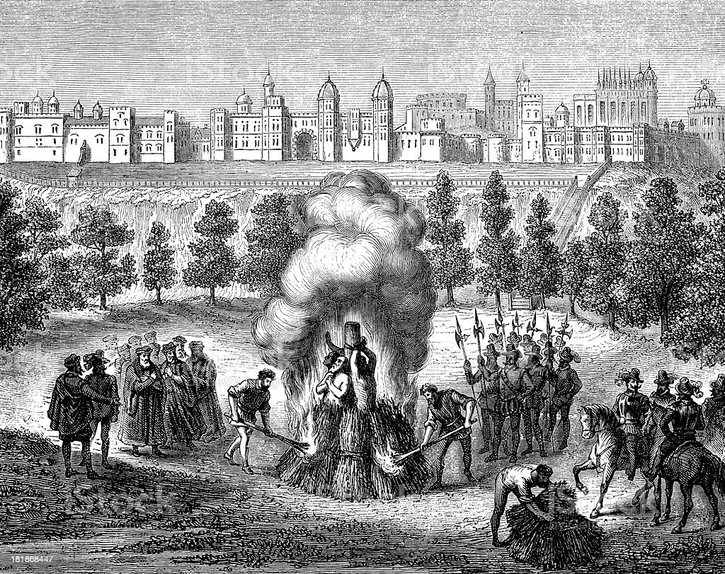 Antique illustration of public stake execution in Windsor royalty-free antique illustration of public stake execution in windsor stock vector art & more images of 19th century style
