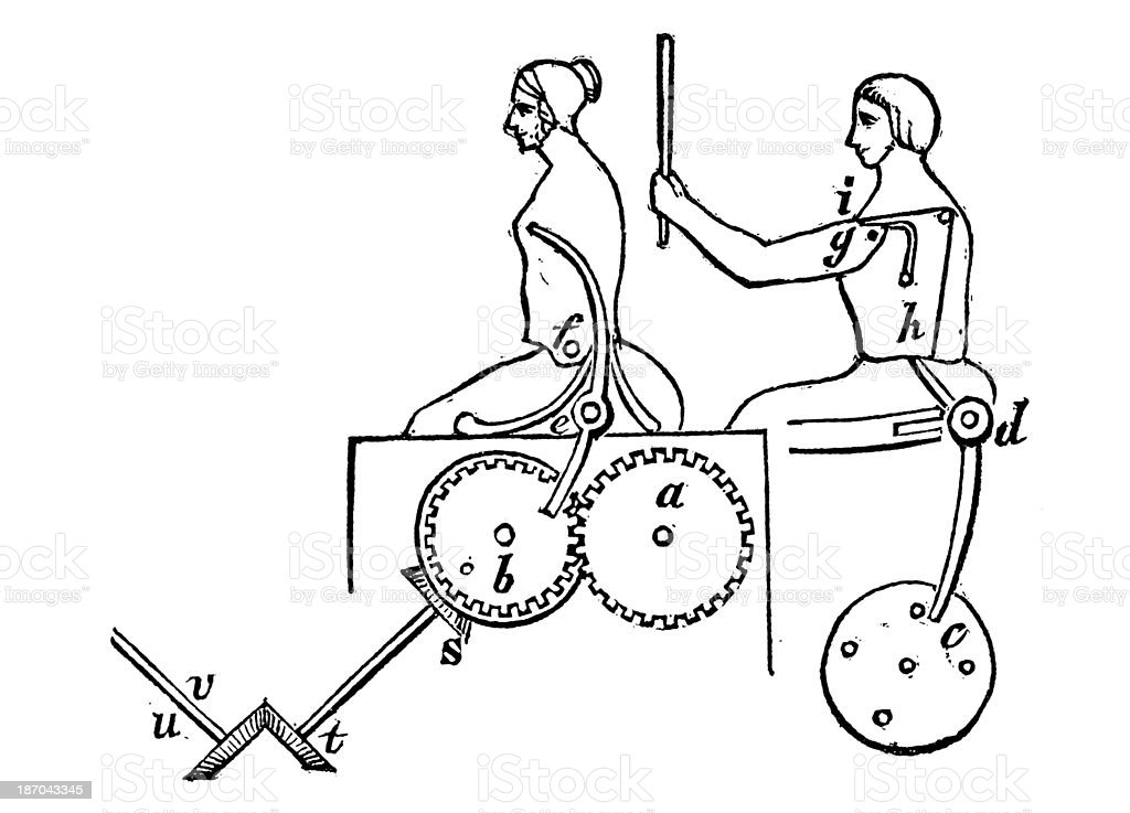 Antique illustration of robot royalty-free stock vector art