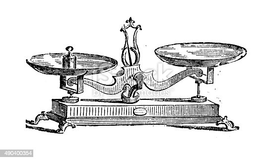 Antique illustration of scale