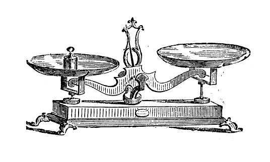 Antique Illustration Of Scale Stock Illustration - Download Image Now