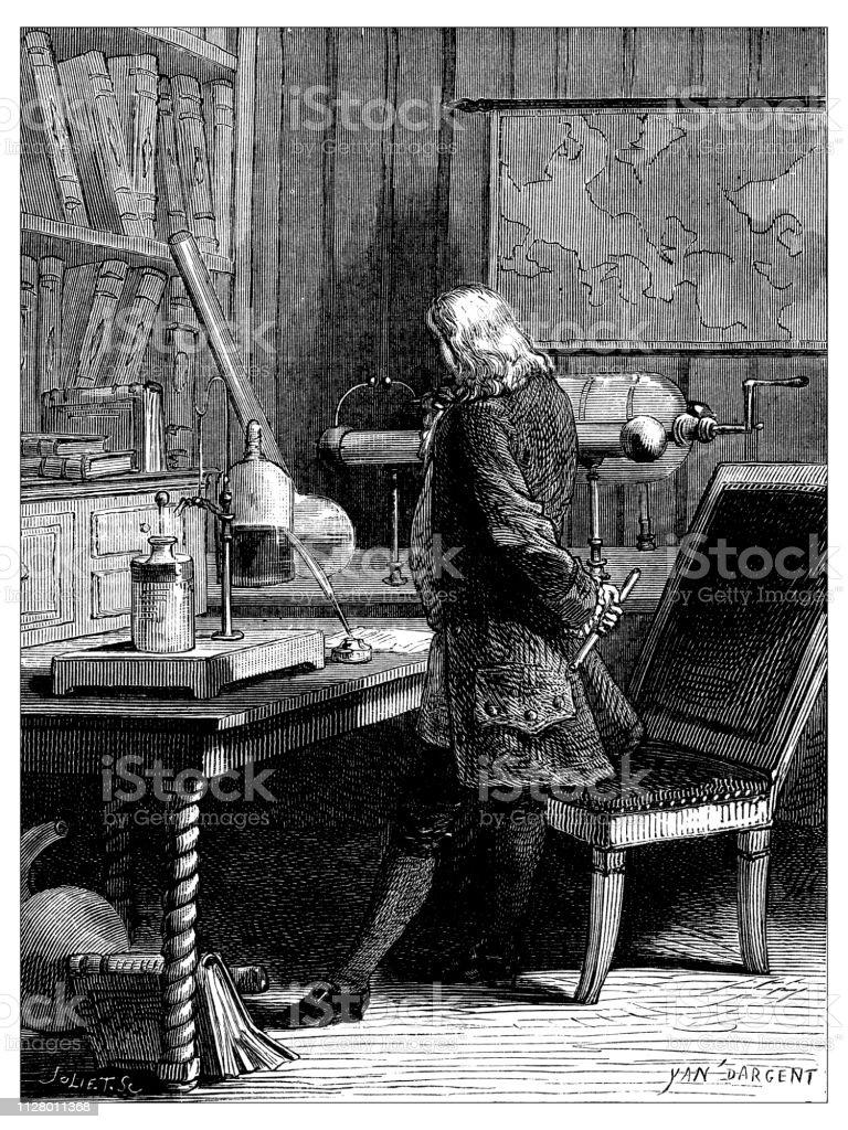 Superb Antique Illustration Of Scientific Discoveries Electricity Inzonedesignstudio Interior Chair Design Inzonedesignstudiocom