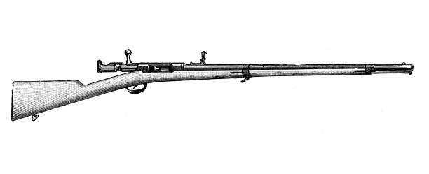 Antique illustration of scientific discoveries, experiments and inventions: Rifle vector art illustration