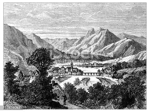 istock Antique illustration of scientific discoveries: Seyssel 1128290931
