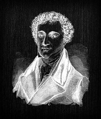 Antique illustration of scientist: Michael Faraday