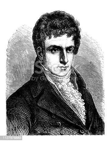 Antique illustration of scientist: Robert Fulton