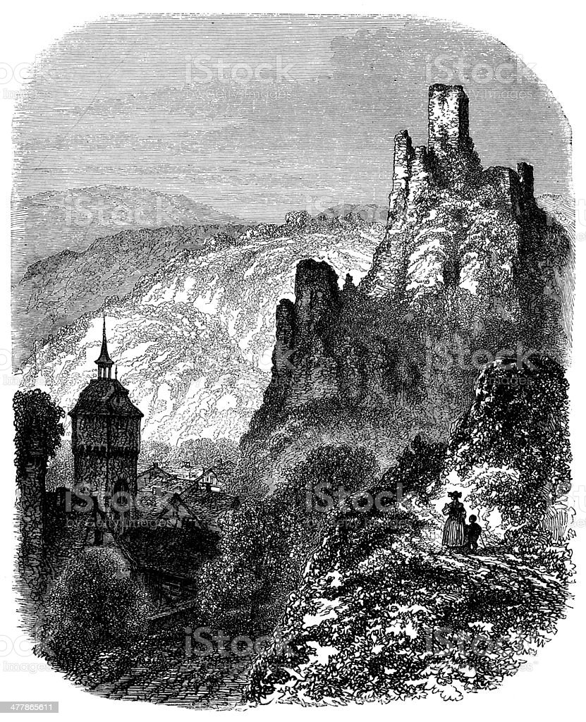 Antique illustration of Sonnenberg castle royalty-free antique illustration of sonnenberg castle stock vector art & more images of 19th century style
