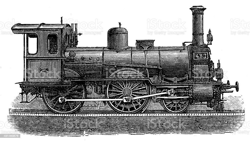 Ilustración de Anticuario Ilustración De Locomotora De Vapor y más ...
