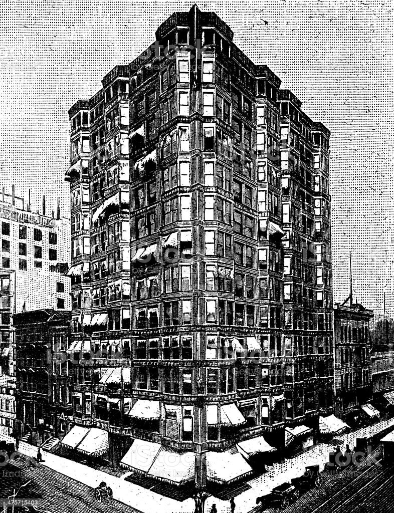 Antique illustration of Tacoma Building, Chicago royalty-free antique illustration of tacoma building chicago stock vector art & more images of 19th century style