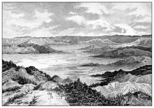 Antique illustration of the first Italo-Ethiopian war (1895-1896): Hamasien