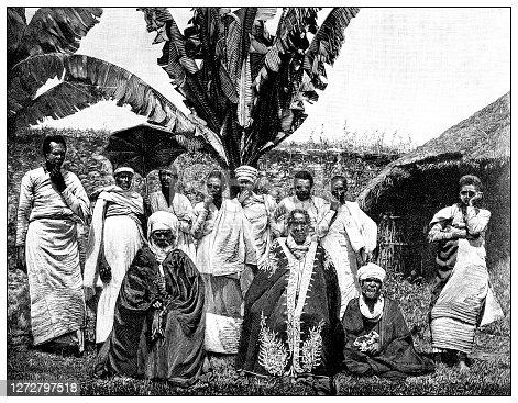 istock Antique illustration of the first Italo-Ethiopian war (1895-1896): Teofilos in Axum 1272797518
