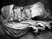 istock Antique illustration of the three Macbeth witches 170644277