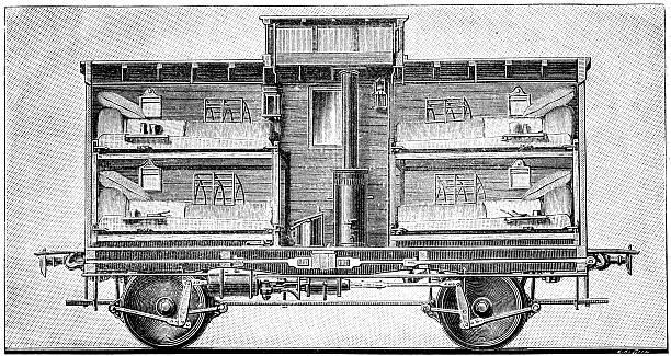 railroad depot clip art railroad sleeping car clip art vector images illustrations istock