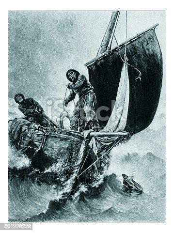 """istock Antique illustration of """"Un homme a la mere!"""" by Haquette 501228228"""