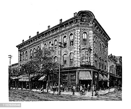 Antique illustration of USA: Birmingham, Alabama - National Bank