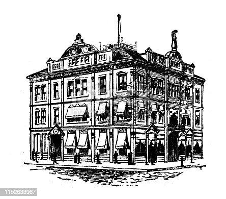Antique illustration of USA: Mobile, Alabama - Cotton Exchange