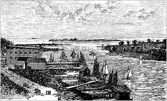 Antique illustration of USA: Tampa Bay, Florida