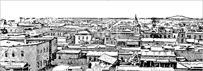 Antique illustration of USA: Tucson, Arizona