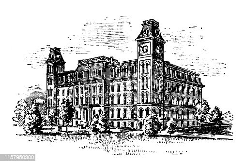 Antique illustration of USA: Urbana, Illinois - University of Illinois