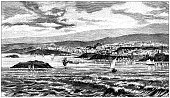 istock Antique illustration: Plymouth 1246136570