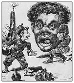 Antique illustration: Political caricatures