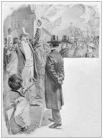 Antique illustration: Protest