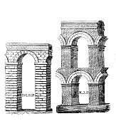 Antique illustration: Roman aqueduct