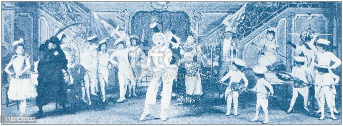 istock Antique illustration: Scaramouche 1182637832