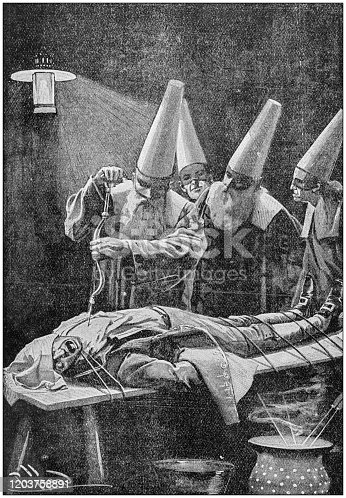 istock Antique Illustration: Scary surgery 1203758891